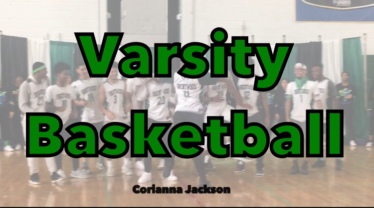 The+boys+varsity+basketball+team+has+fun+at+pep+rally.