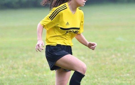 Sofia Alvarez at practice.