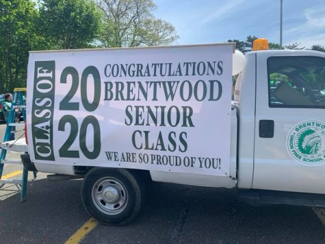Brentwood HS Leads Firetruck Parade for Graduating Seniors