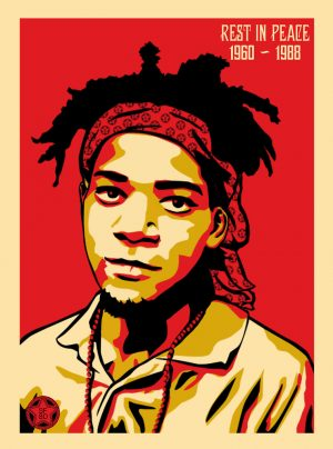 Jean-Michel Basquiat - SF80 X OBEY by sf80-GB is licensed under CC BY-SA 2.0